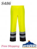 Portwest S486,  Hi-Vis Two Tone Traffic/Rain Pants/FREE SHIPPING/$ per Pair