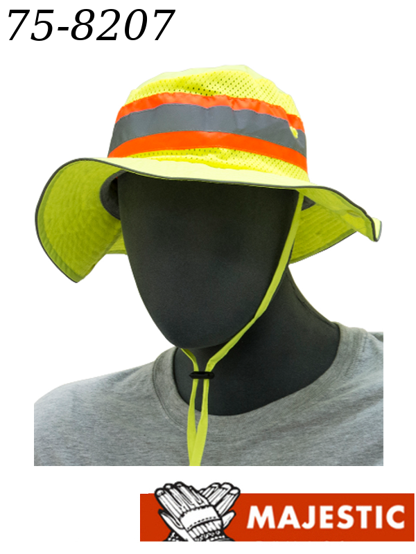 Majestic 75-8207, Hi-Vis Yellow Brim Hat, Size Small and Regular/$ per Hat