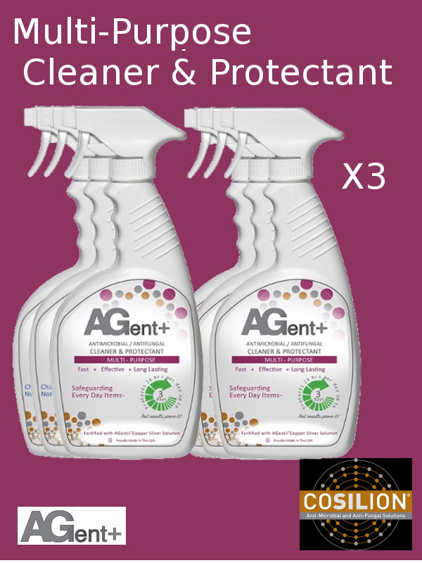 A103, AGent+ Multi-Purpose Cleaner & Protectant - SIX (6) 32oz Spray Bottles