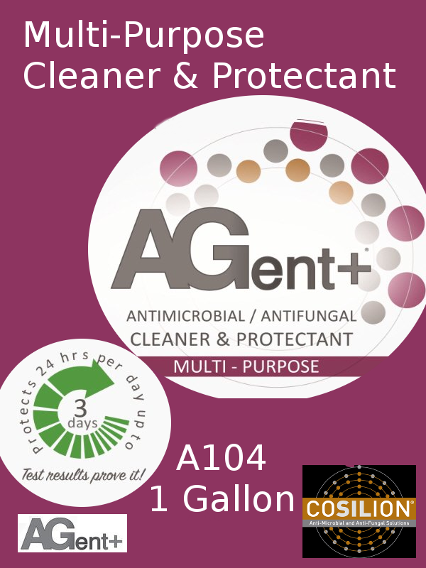 A104, AGent+ Multi-Purpose Cleaner & Protectant - One US Gallon Bottle Jug