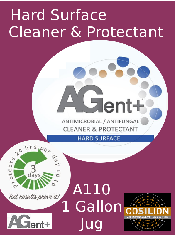 A110A, AGent+ Hard Surface Cleaner & Protectant - One (1) US Gallon Jug