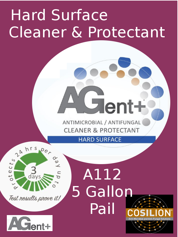 A112, AGent+ Hard Surface Cleaner & Protectant - One (1) 5 US Gallon Pail