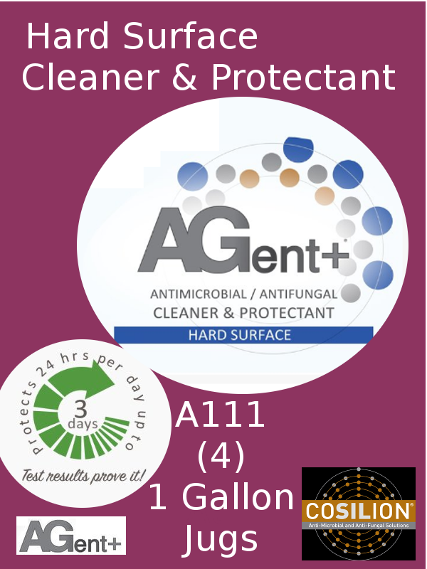 A111, AGent+ Hard Surface Cleaner & Protectant - Four (1) US Gallon Jugs