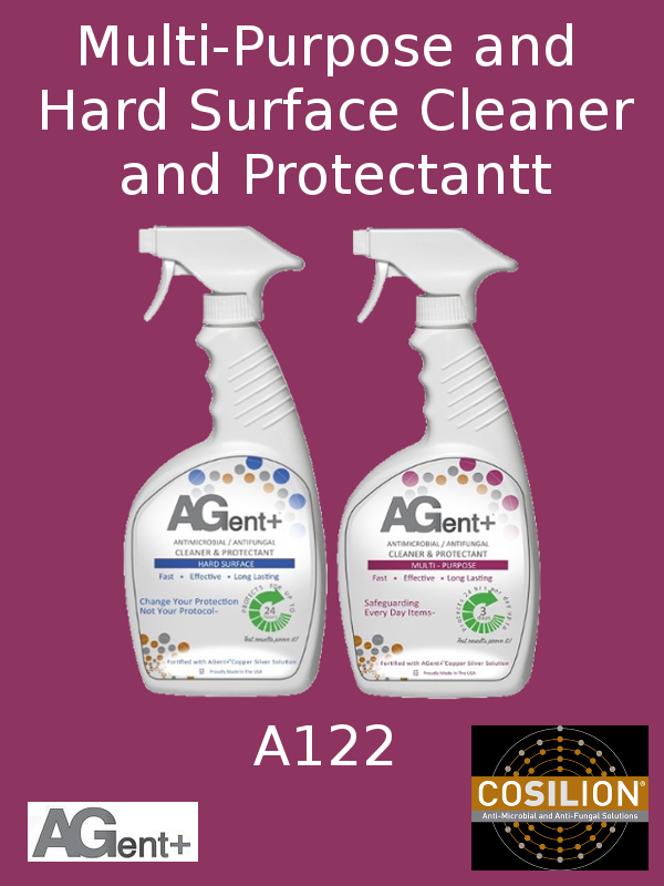 A122, AGent+ Multi-Purpose & Hard Surface Cleaner & Protectant - Two (2) 32oz Spray Bottles, One Each Type of Cleaner