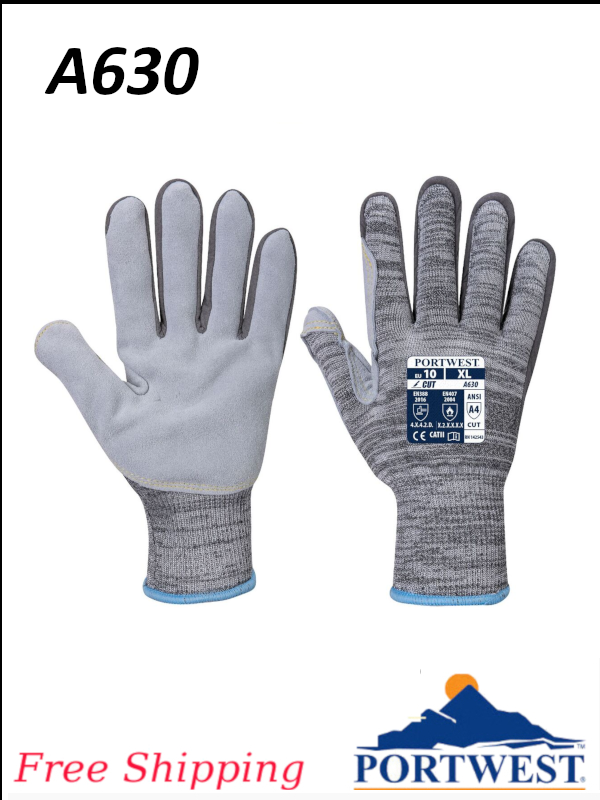 Portwest A630, Razor-Lite Work Glove, ANSI Cut Level A4, Leather Palm Safety Workwear /FREE SHIPPING/$ per Pair