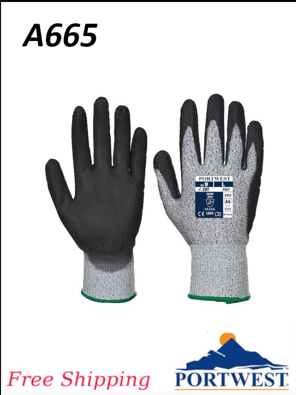 Portwest A665, VHR Advanced Cut Glove/FREE SHIPPING/$ per Single Glove