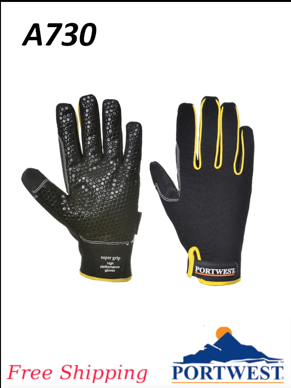 Portwest A730, Supergrip - High Performance Gloves/FREE SHIPPING/$ per Pair   -