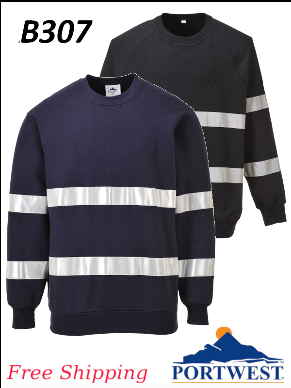 Portwest B307, Iona Sweatshirt with Reflective Tape/SHIPPING INCLUDED/$ per Each