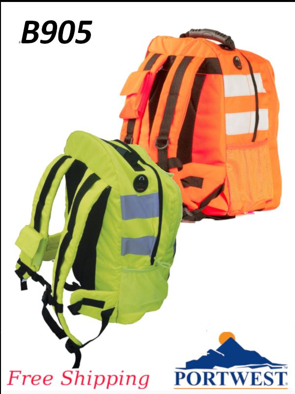 Portwest B905, Hi Viz Back Pack/SHIPPING INCLUDED/$ per Each