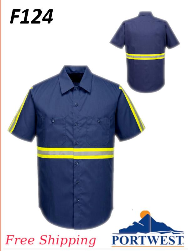 Portwest F124, Iona Xtra Shirt, Short Sleeve/FREE SHIPPING /$ per Shirt