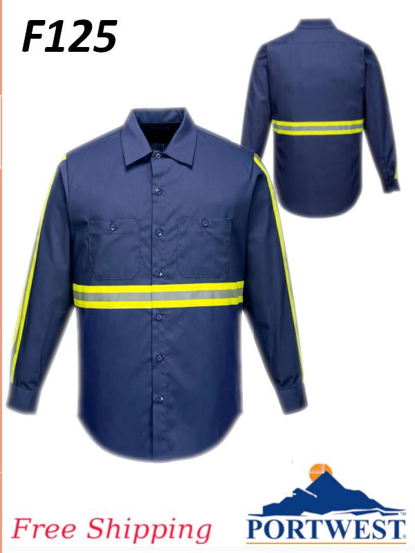 Portwest F125, Iona Xtra Shirt, Long Sleeve/FREE SHIPPING /$ per Shirt
