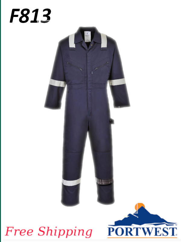 Portwest F813, Iona Polycotton Coverall - Quality Fabric and Modern Design/FREE SHIPPING/$ per Coverall