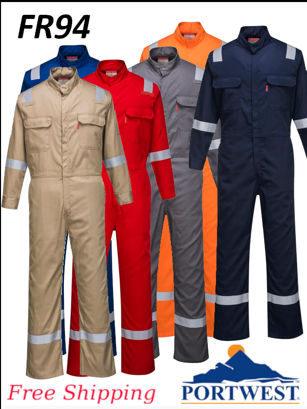 Portwest FR94, Bizflame 88/12 Iona Flame Resistant Coverall - FREE SHIPPING/$ per Coverall