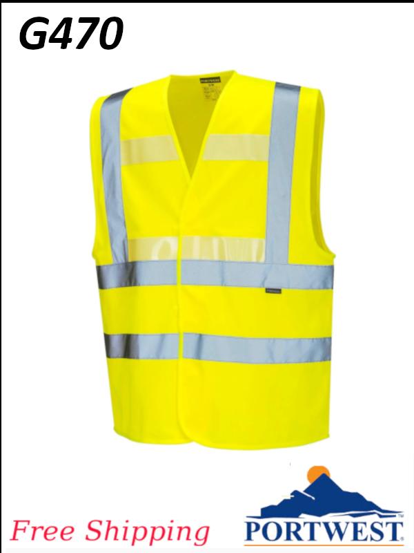 Portwest G470, Hi-Vis Triple Technology Vest/SHIPPING INCLUDED/$ per Each