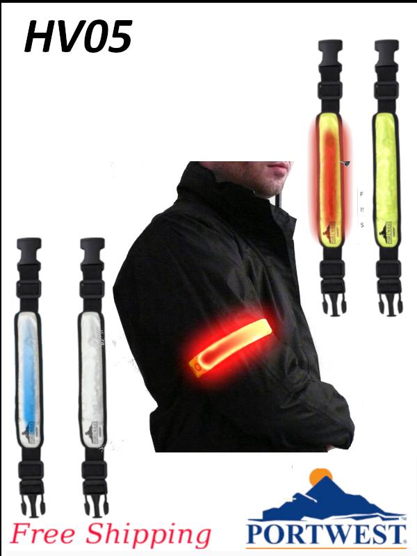 Portwest HV05, Illuminated Flashing Armband/FREE SHIPPING/$ per Each