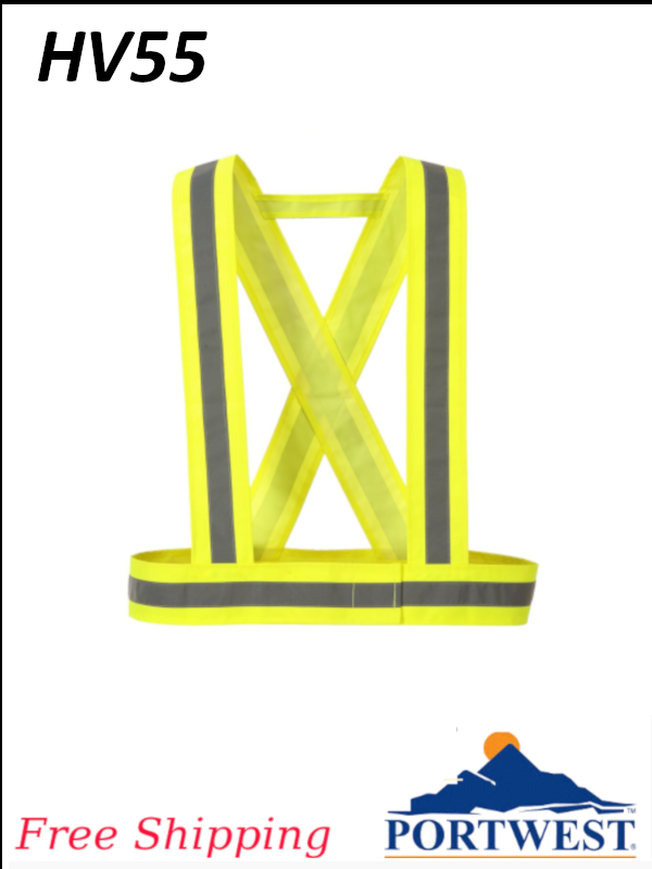 Portwest HV55, Hi-Vis Strap with Reflective Tape/FREE SHIPPING/$ per Each