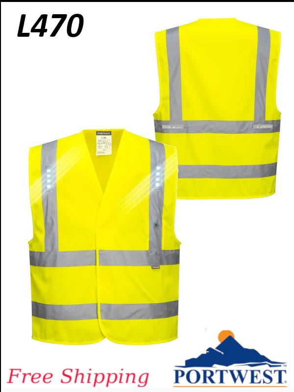 Portwest L470, Vega LED Vest/SHIPPING INCLUDED/$ per Vest