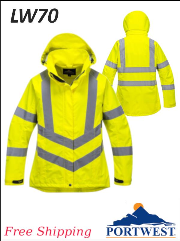 Portwest LW70, Ladies Hi-Viz Breathable Jacket/FREE SHIPPING/$ per Jacket
