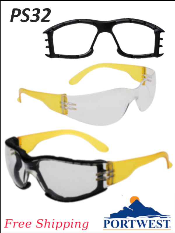 Portwest PS32, Wrap Around Plus Glasses/FREE SHIPPING/$ per Each