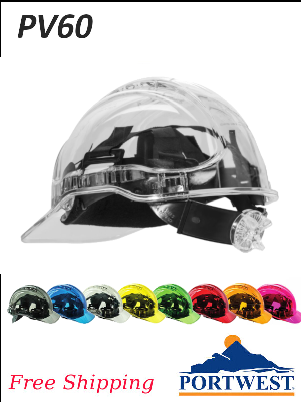 Portwest PV60, Peak View Ratchet Hard Hat Vented, Type II Class C/FREE SHIPPING/$ per Hard Hat