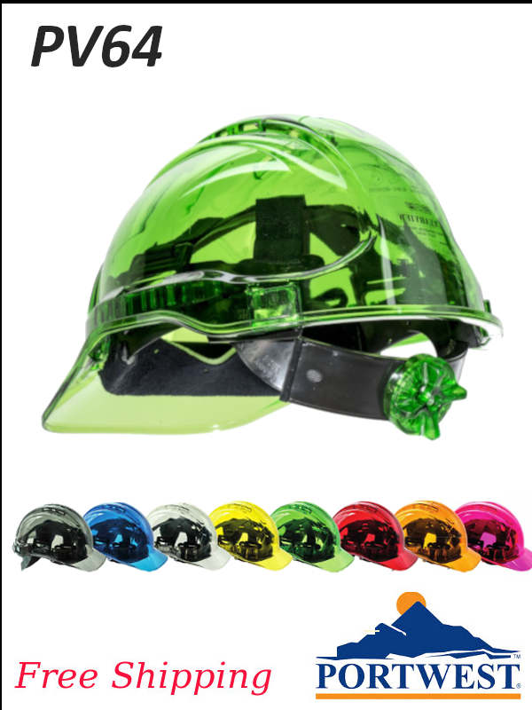 Portwest PV64, Peak View Ratchet Hard Hat NON Vented, Type II Class C/FREE SHIPPING/$ per Hard Hat