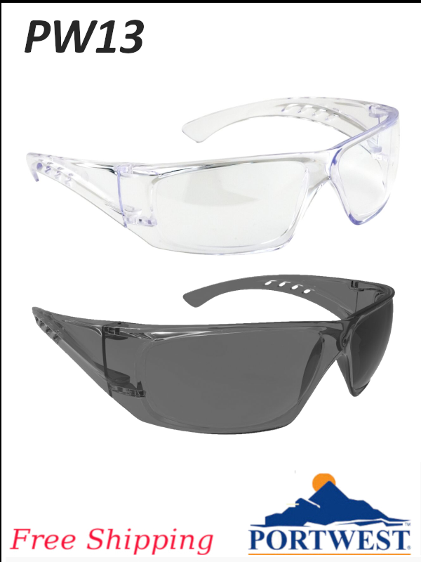 Portwest PW13, Clear View Glasses/FREE SHIPPING/$ per Pair