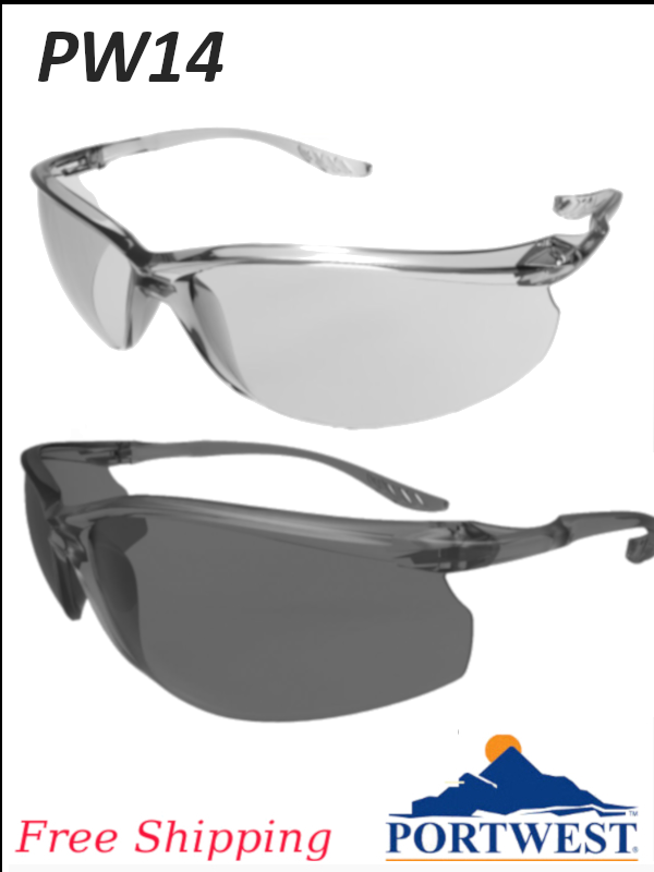 Portwest PW14, Lite Safety Glasses/FREE SHIPPING/$ per Pair