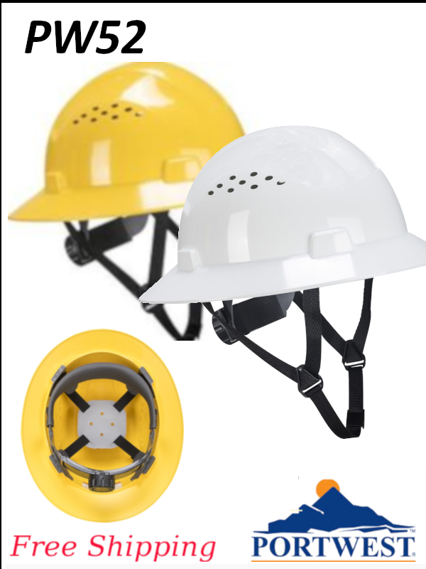 Portwest PW52, Full Brim Future Vented Hard Hat/FREE SHIPPING/Priced per Each