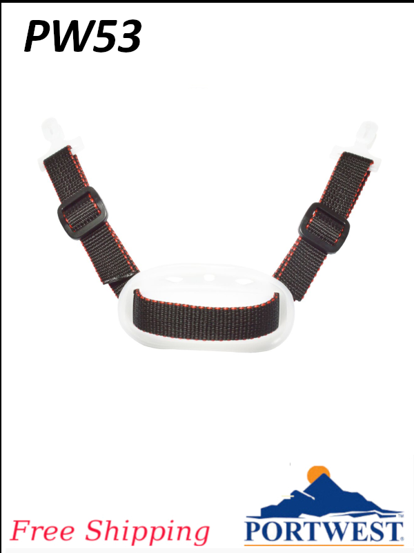 Portwest PW53, Adjustable Hard Hat Chin Strap/FREE SHIPPING/Priced per 10