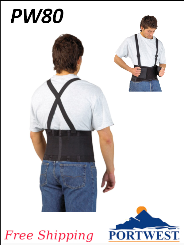 Portwest PW80, Support Belt - Personnel Accessory/FREE SHIPPING/$ per Each