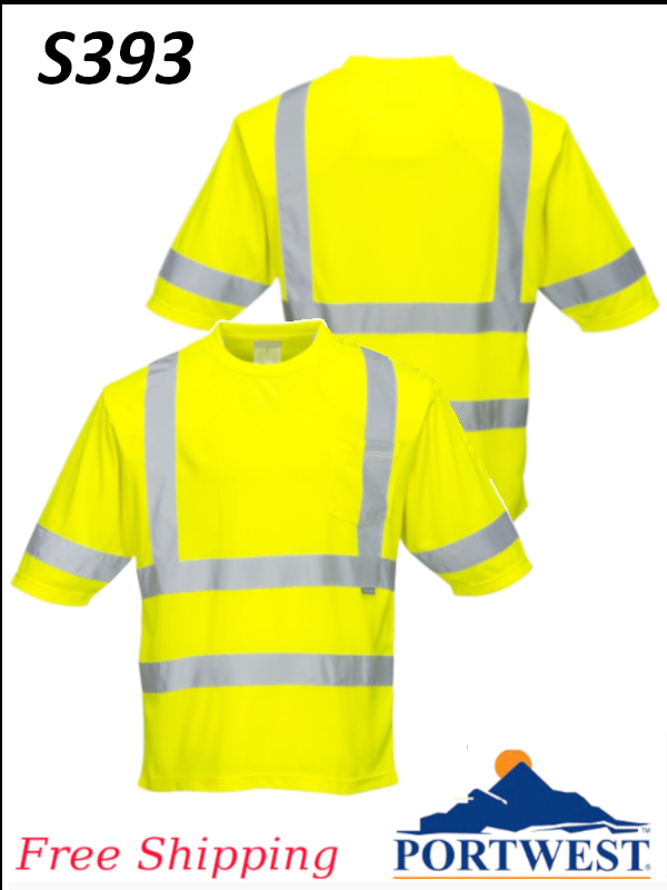 Portwest S393, Dayton Class 3 T-Shirt/SHIPPING INCLUDED/$ per Shirt