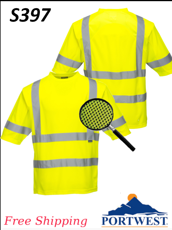Portwest S397, Class 3 Mesh Panel T-Shirt/SHIPPING INCLUDED/$ per Shirt