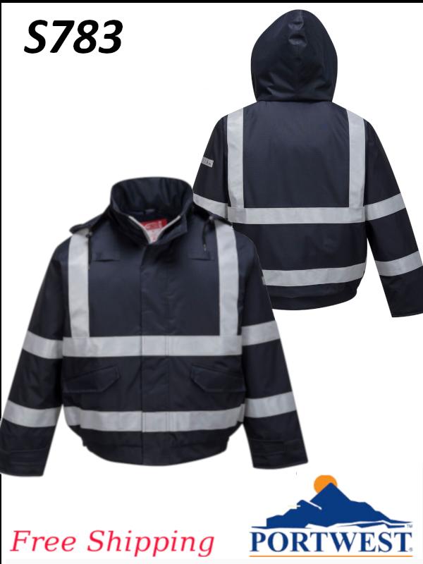 Portwest S783,  Bizflame Rain Flame Resistant Bomber Jacket/FREE SHIPPING/$ per Jacket