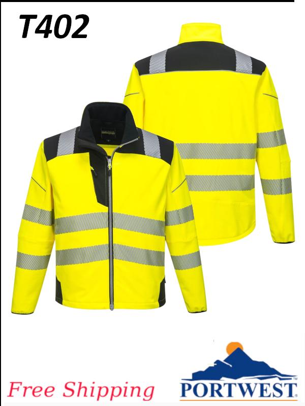 Portwest T402, Vision Hi-Vis Softshell Jacket/FREE SHIPPING/$ per Jacket
