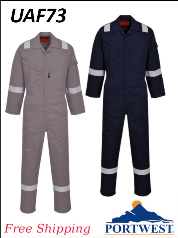 Portwest UAF73, Araflame NFPA 2112 Flame Resistant Coverall/SHIPPING INCLUDED/$ per Coverall