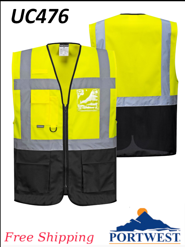 Portwest UC476, Warsaw Executive Vest/SHIPPING INCLUDED/$ per Vest
