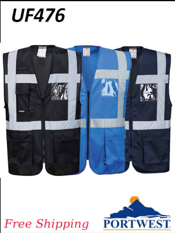 Portwest UF476, Iona Executive Vest/SHIPPING INCLUDED/$ per Vest