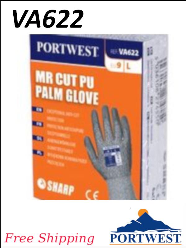 Portwest VA622, Vending Machine, ANSI Cut Level A3, Polyurethane Palm Glove/FREE SHIPPING/$ per Pair