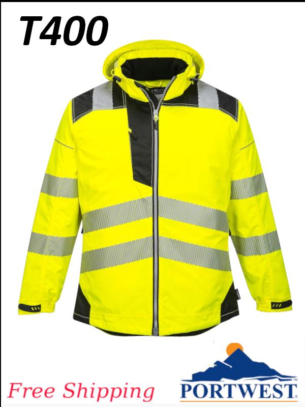 Portwest T400, Vision Hi-Vis Rain Jacket/FREE SHIPPING/$ per Jacket