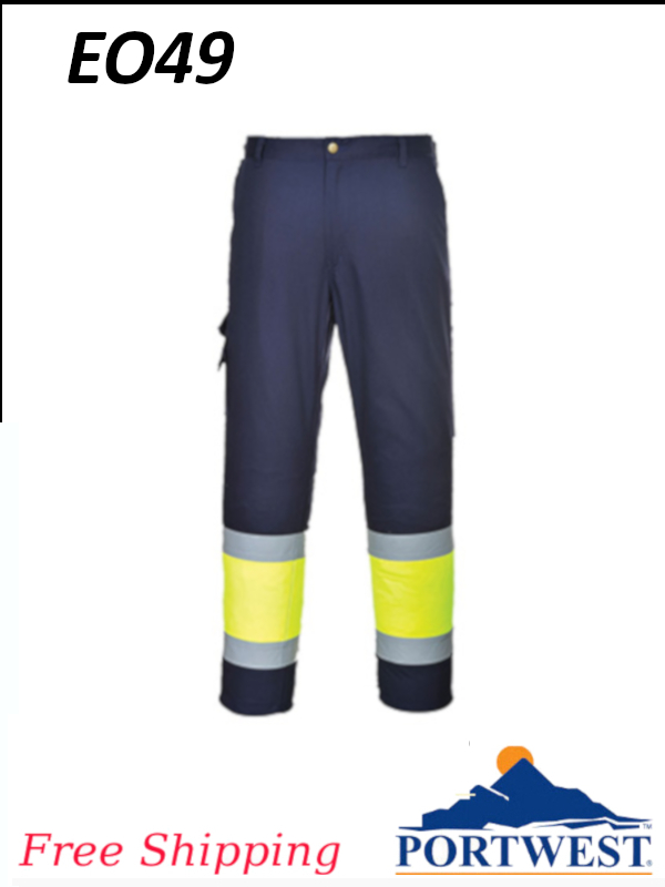 Portwest EO49, Hi-Vis Two-Tone Contrast Pants/SHIPPING INCLUDED/$ per Pair