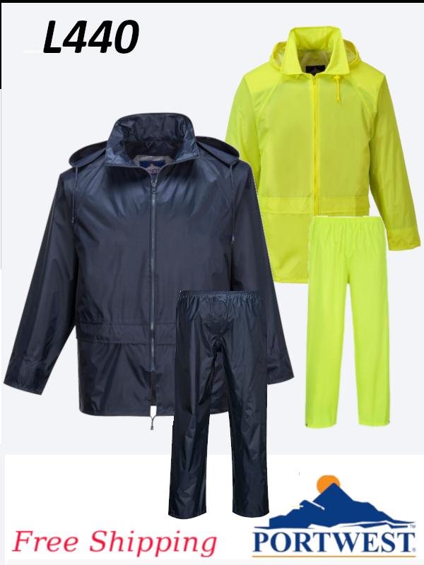 Portwest L440, 2 Piece Essentials Rain Suit/FREE SHIPPING/$ per Set