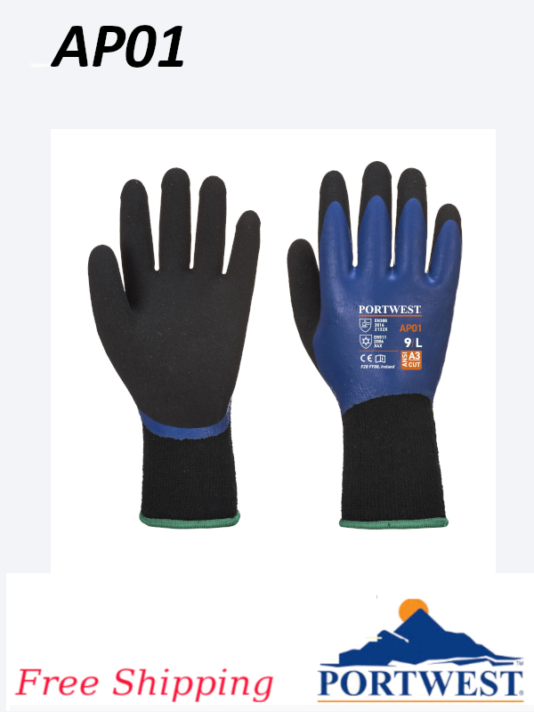 Portwest AP01, Latex Coated Thermal Pro Glove/FREE SHIPPING/$ per Pair