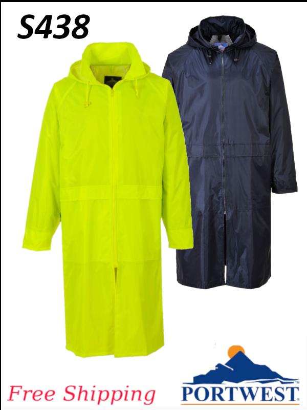 Portwest S438, Classic Adult Rain Coat/SHIPPING INCLUDED/$ per Coat   (CLONE)