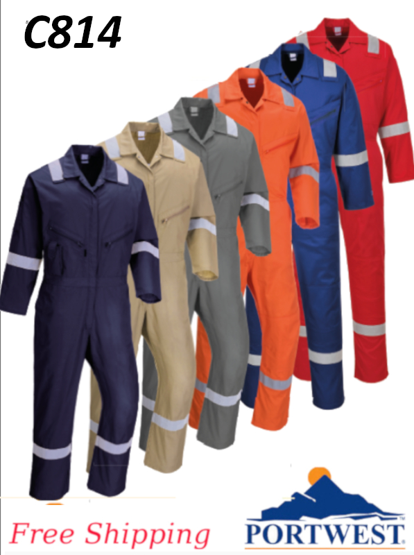 Portwest C814, Iona 100% Cotton Coverall - Designed to Stay Looking Good/FREE SHIPPING/$ per Coverall
