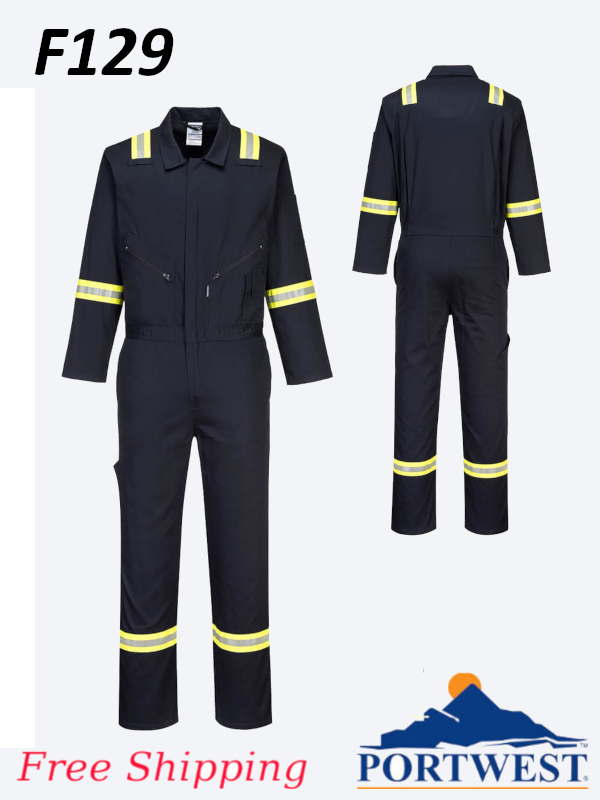 Portwest F129, Iona Extra Cotton Coverall - Designed to Stay Looking Good/FREE SHIPPING/$ per Coverall