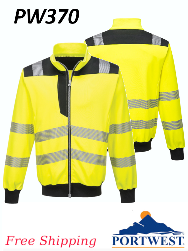 Portwest PW370, PW3 Hi-Vis Sweatshirt/FREE SHIPPING/$ per Jacket