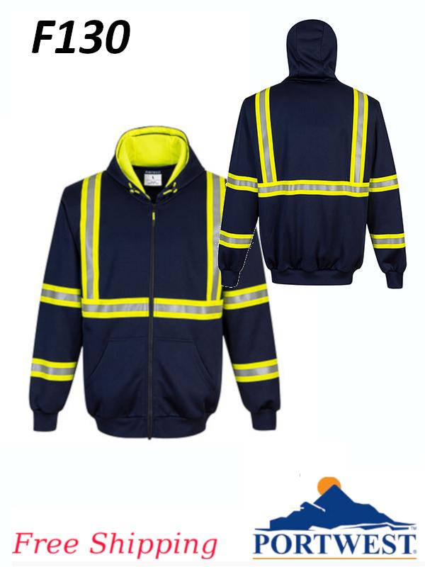 Portwest F130, Enhanced Visibility Iona Xtra Hoodie, FREE SHIPPING/$ per Sweatshirt