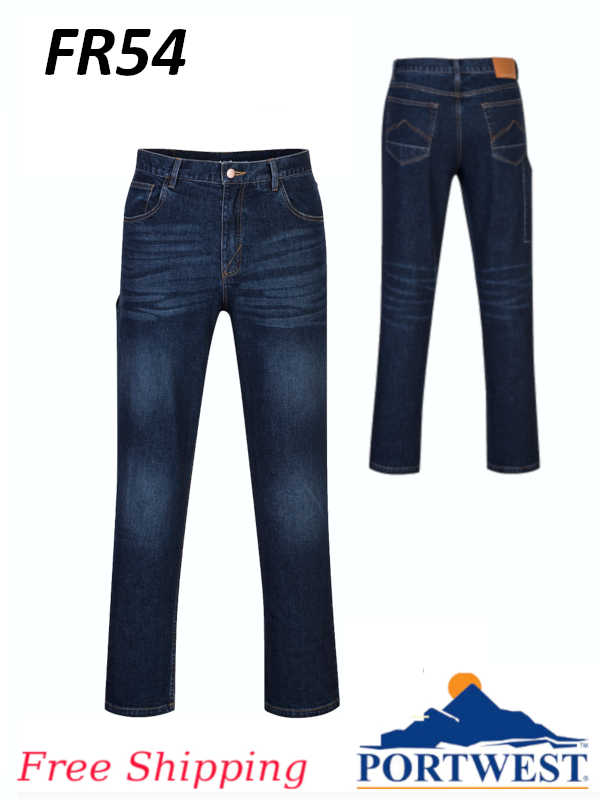 Portwest FR54, Iona Xtra Cotton Jean Pant/FREE SHIPPING/$ per Pair