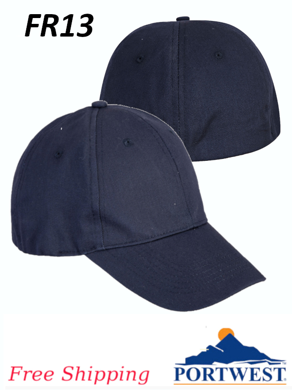 Portwest FR13, FR Baseball Cap/FREE SHIPPING/$ per Each