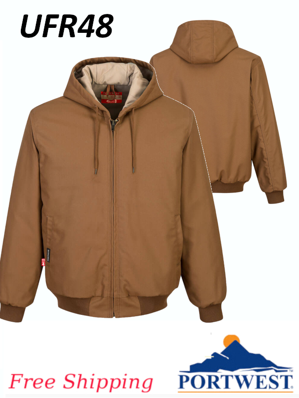Portwest UFR48, FR Duck Quilted Lined Jacket/SHIPPING INCLUDED/$ per Jacket
